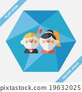 wedding couple flat icon with long shadow,eps10 19632025