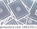 Blue deck of playing cards background 19632911