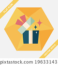 Gift flat icon with long shadow,eps10 19633143