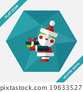 Santa Claus flat icon with long shadow, eps10 19633527