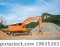 Excavator loader machine at construction site 19635303