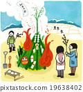 burning of new year's gate decorations, dondo yaki, new year 19638402