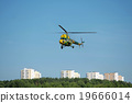 rescue helicopter over the city 19666014