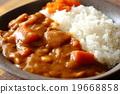 咖喱饭 进餐 食物 19668858