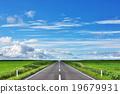 road, straight road, blue sky 19679931