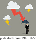 Man with umbrella protect from thunderstorm 19680022