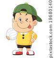 孩子,嬰兒,男孩的滑稽和可愛的人的插圖|岩佐正義 19680140