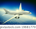 Aircraft Midair Public Transportation Flying concept 19681770