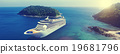 Cruise Ship in the Ocean with Blue Sky Concept 19681796