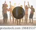 beach, party, men 19683537