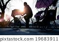 Man Riding Rickshaw Occupation Ancient Culture Concept 19683911