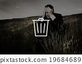 Bin Trashcan Waste Garbage Junk Icon Concept 19684689