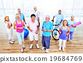 Senior Adult Exercise Activity Healthy Workout Concept 19684769