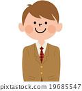 男学生_西装外套 19685547