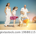 beach, enjoying, family 19686115