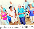 Senior Adult Exercise Activity Healthy Workout Concept 19686625