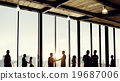 Group of Business People in Office Building Concept 19687006