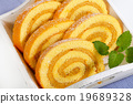 Swiss Roll with Coffee Mousse Cream 19689328