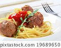 Meatballs and spaghetti 19689650