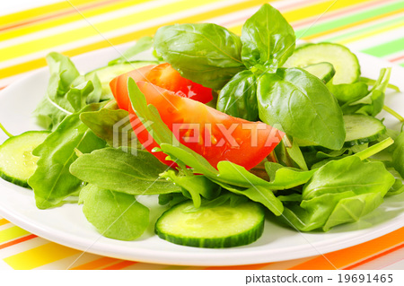 Rocket and cucumber salad 19691465