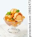 dessert, ice-cream, apricot 19692473