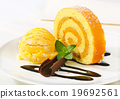 Swiss Roll with yellow sherbet 19692561