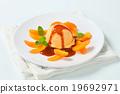 dessert, ice-cream, apricot 19692971