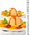 dessert, ice-cream, apricot 19693382