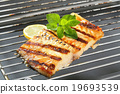Grilled carp fillet 19693539