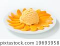 dessert, ice-cream, apricot 19693958