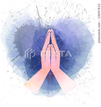 Stock Illustration: prayer hands