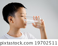 Boy drink water from glass 19702511