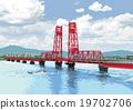 Chikugo River rising bridge 19702706