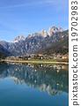 Alpine village at Dolomites 19702983
