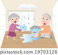 Troubled trouble of leakage Water leakage Ceiling panickle 19703126