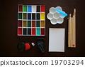 ชุดเครื่องมือจดหมายรูปภาพของ Hobby (สีใบหน้า, แปรง, กระดาษวาดรูป, ดินสอ, vermillion, ตรายาง, umeboard และเข็มฉีดยา) 19703294