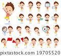 Red clothing short hair boy 2 19705520