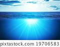 Blue ocean and sky 19706583