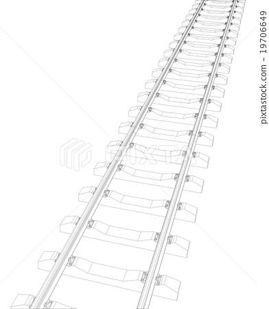 Railway on white 19706649