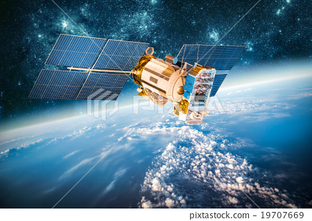 Space satellite over the planet earth 19707669