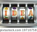Idea concept. Slot machine with text. 19710758