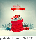 Holiday Christmas background with a sack  19712919