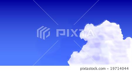 天空雲彩風景背景 19714044