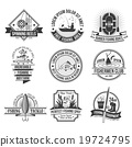 Fishing Emblems Set 19724795