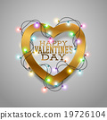 Valentines heart card 19726104