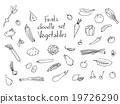 Fruits and vegetables Sketch set 19726290