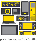 electronic gadgets vector icon set 19726302