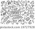 Japanese food - sushi doodle set  19727928