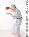 浴衣 年长 乒乓球 19729195