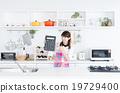 主婦 家庭主婦 廚房 19729400